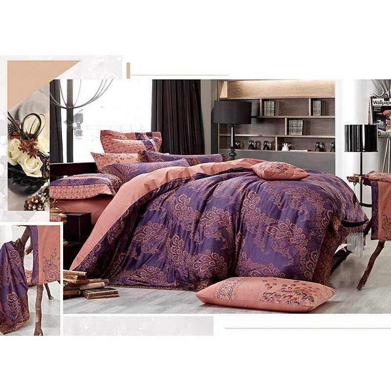 50% Rayon 50% Polyester Jacquard Comforter Set YC-M-12