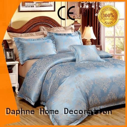 Hot jacquard duvet cover king cover Jacquard Bedding Set pattern Daphne