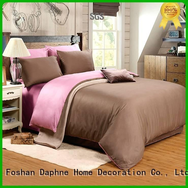 Daphne Brand damask style cotton Solid Color Bedding colorful