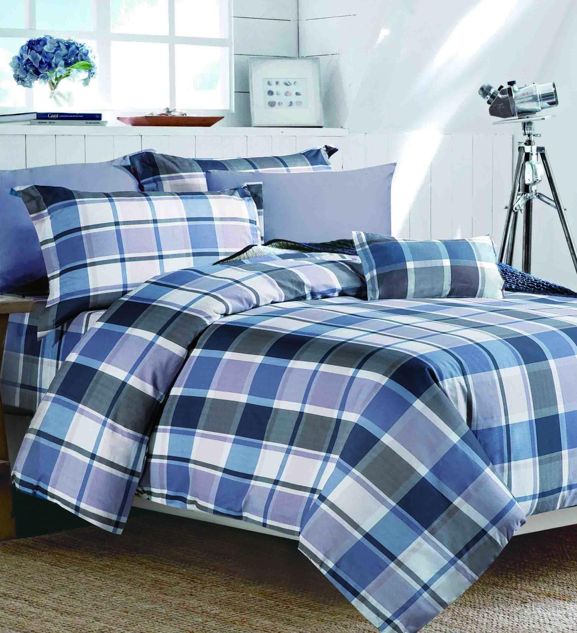 100% Cotton Plaid Pattern Bed linen   #161144