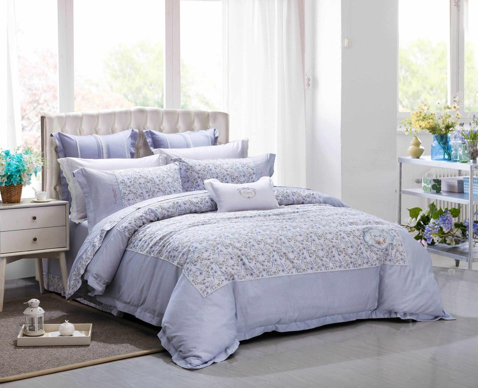 Floral Prints Cotton Duvet Cover Set
