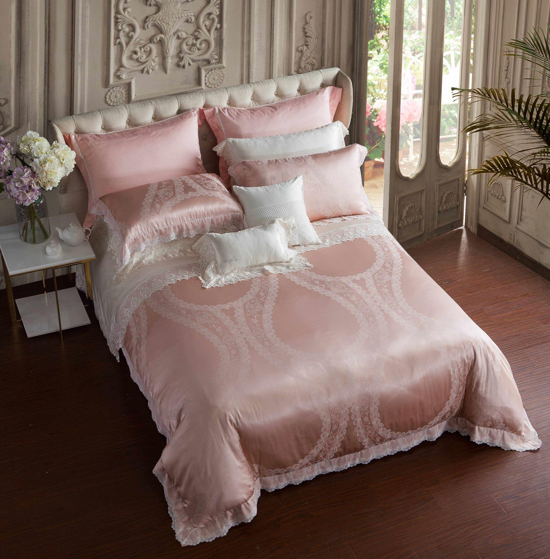 Jacquard Silk & Cotton Duvet Cover Set 6875