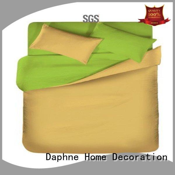 linen bedding sets bed Daphne Brand Solid Color Bedding