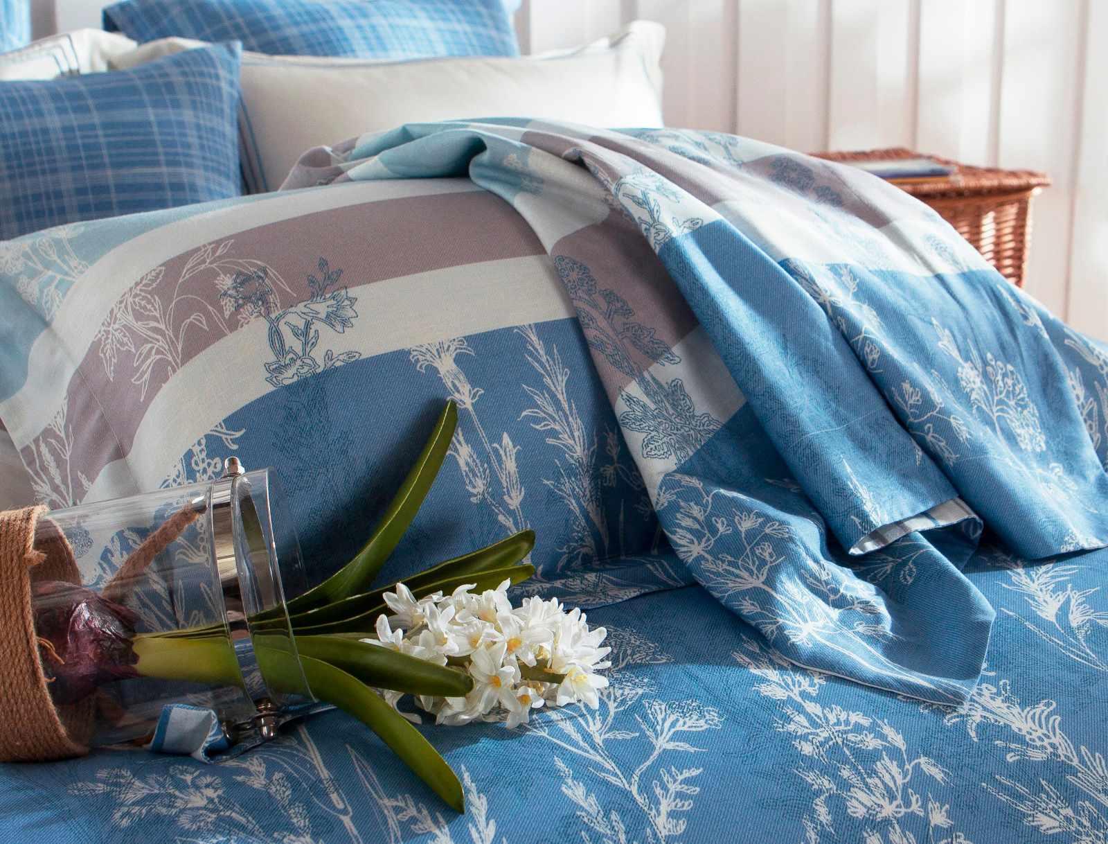 45% Cotton 45% Lyocell 10% Linen Blended Elegant Printed Bedroom Set   #6820