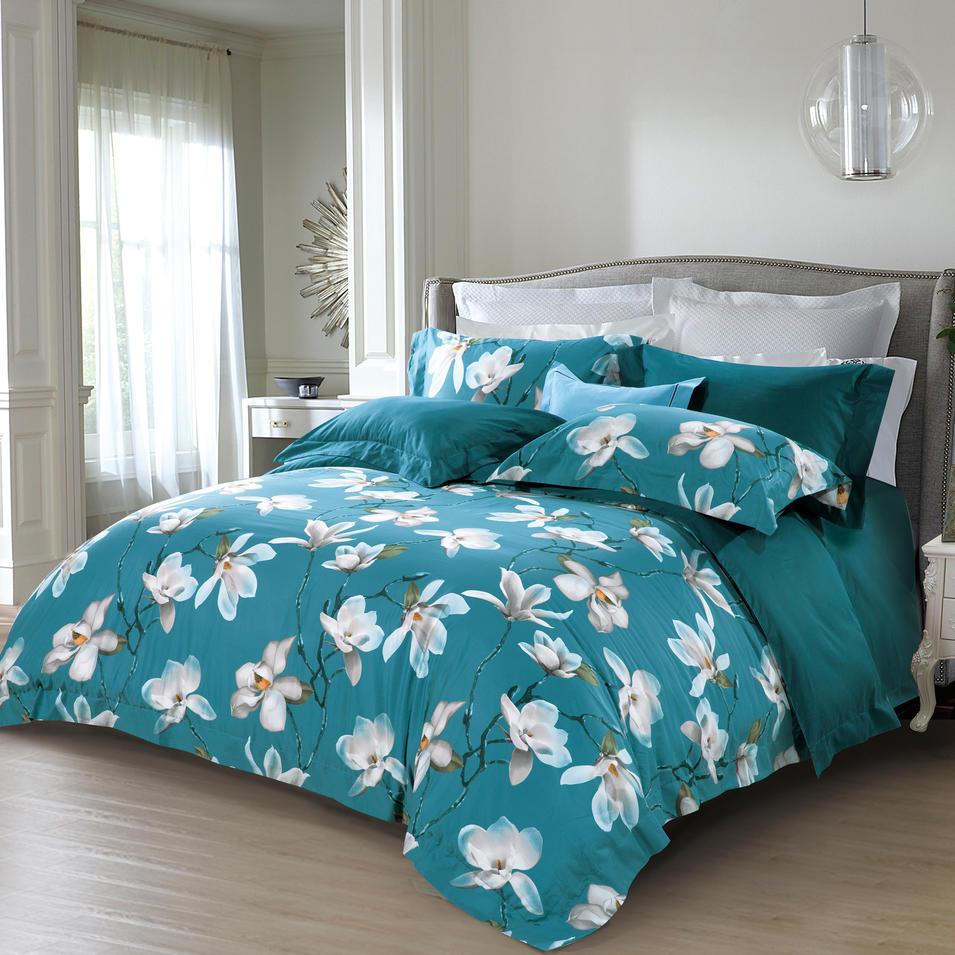 500TC Cotton Magnolia Denudata Flowers Sheet Set