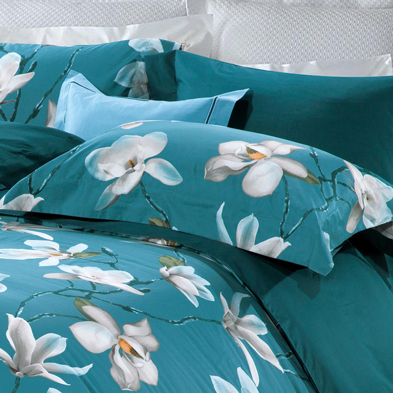 500TC Cotton Magnolia Denudata Flowers Sheet Set