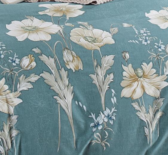 200 Thread Count 100% Cotton Printed Duvet Cover Set 4PCS