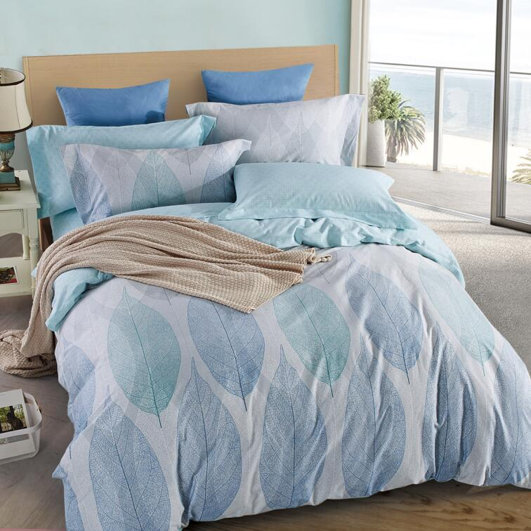 Refreshing Leaves Pattern Pure Cotton Bed Set