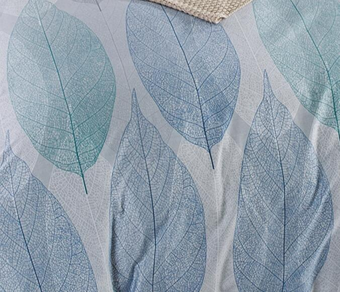 Refreshing Leaves Pattern Bed Linen Set From Pure Cotton