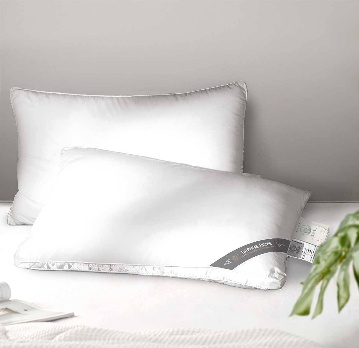 Microfiber Filling Super Soft Jacquard Pillow DG285