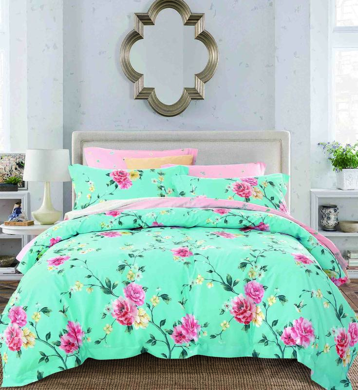 100% cotton bedding sets wholesale peony duvet cover sets with fast delivery