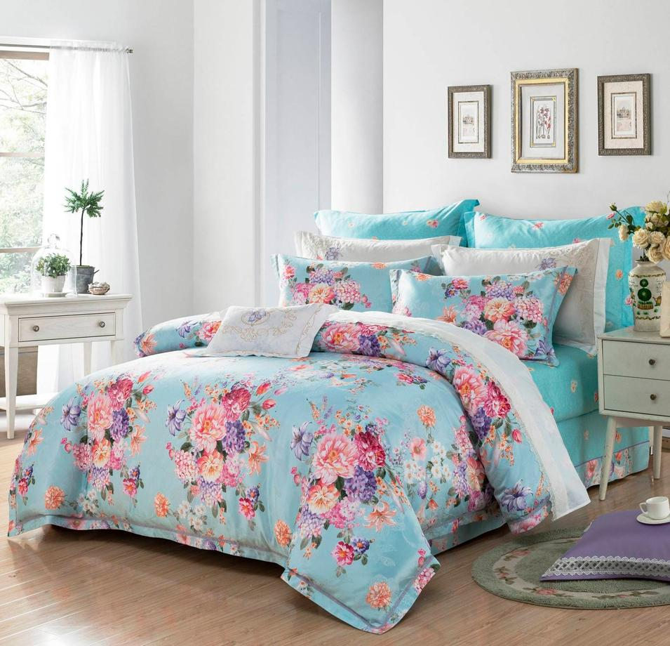 Polyester and Cotton Jacquard Bedding Set   #6821