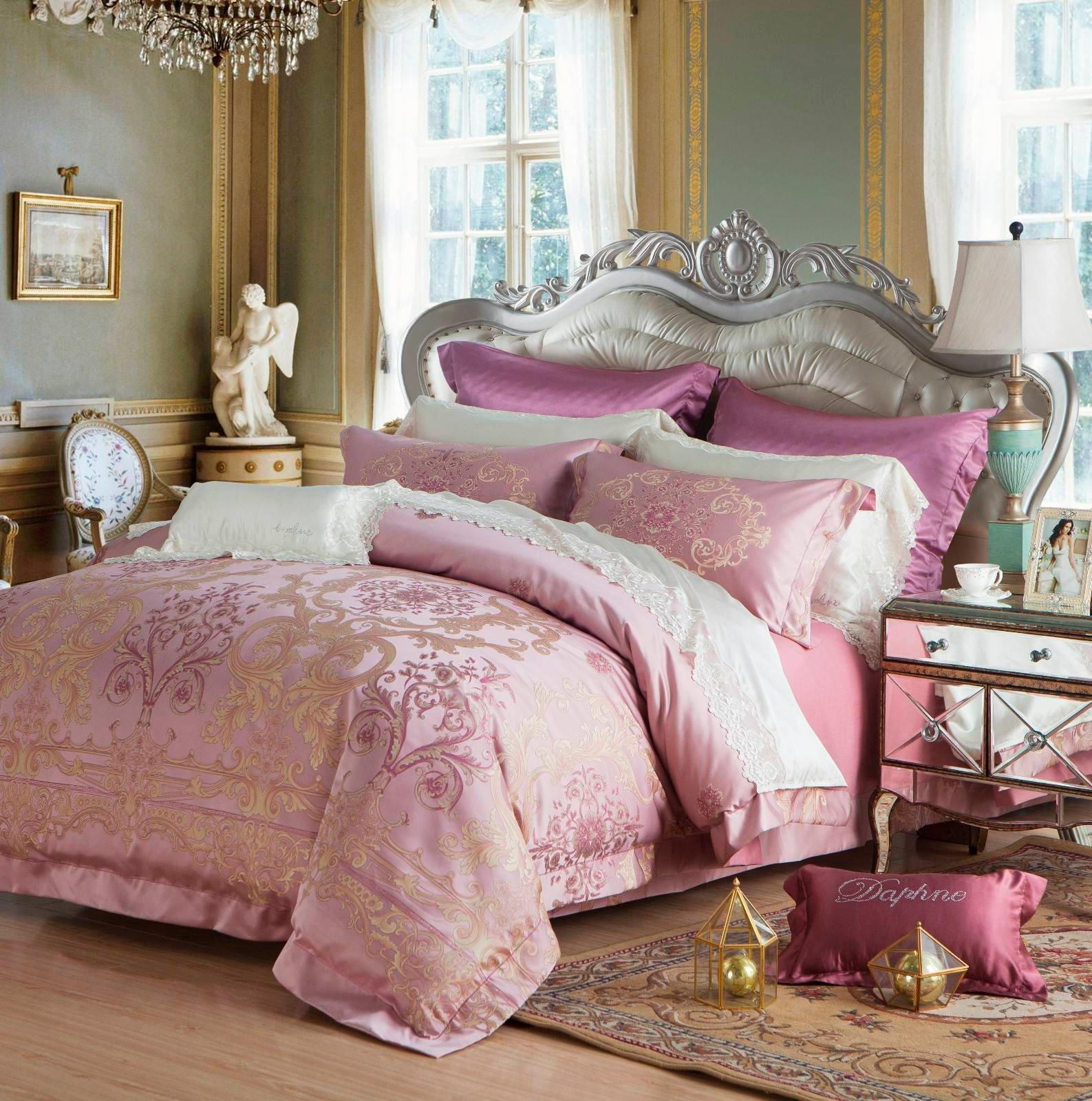 Lustrous Jacquard China Bedding High Quality 100% Polyester 6815