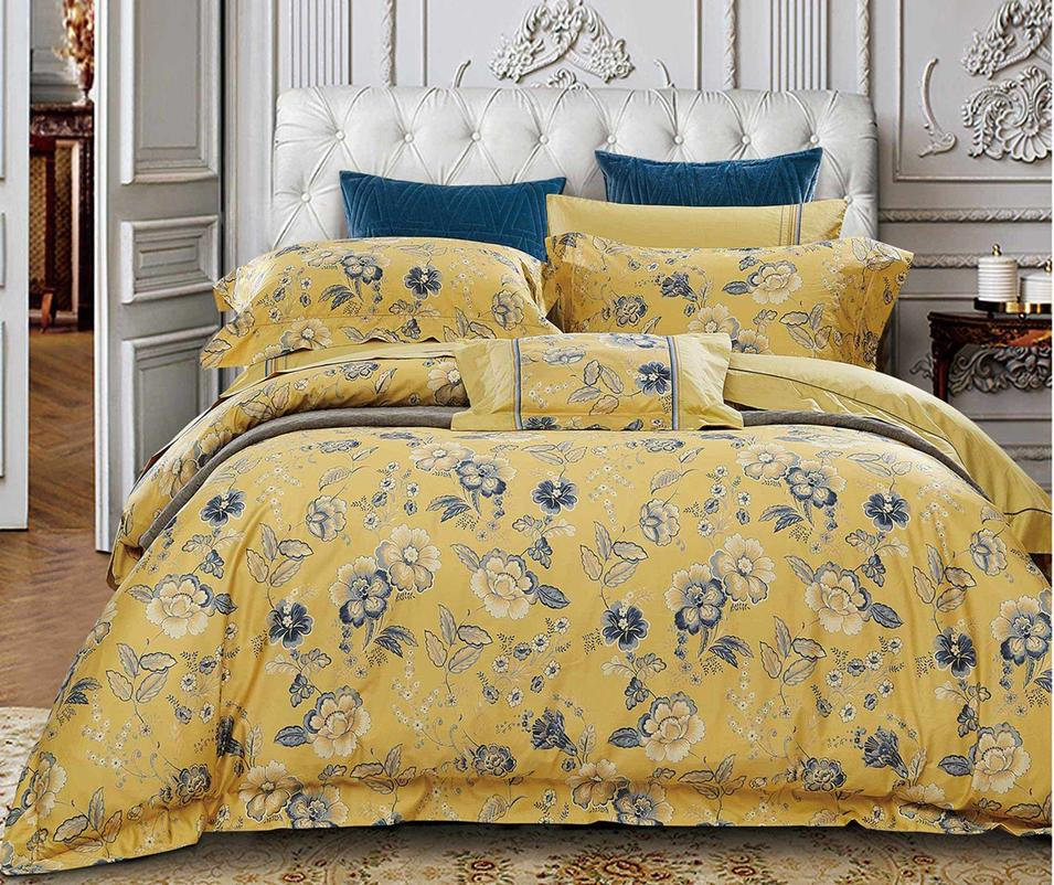 Fashionable Floral Bed Linen Yellow/Grey 171188