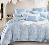 China Sky Blue Pattern Bedding Set Made of Lyocell