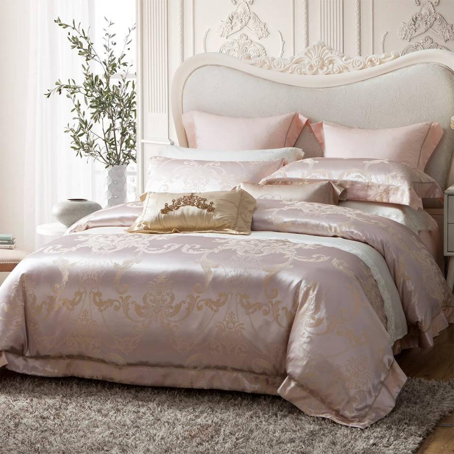 Well-made Jacquard Polyester Mixed with Viscose Bedding Set 6981