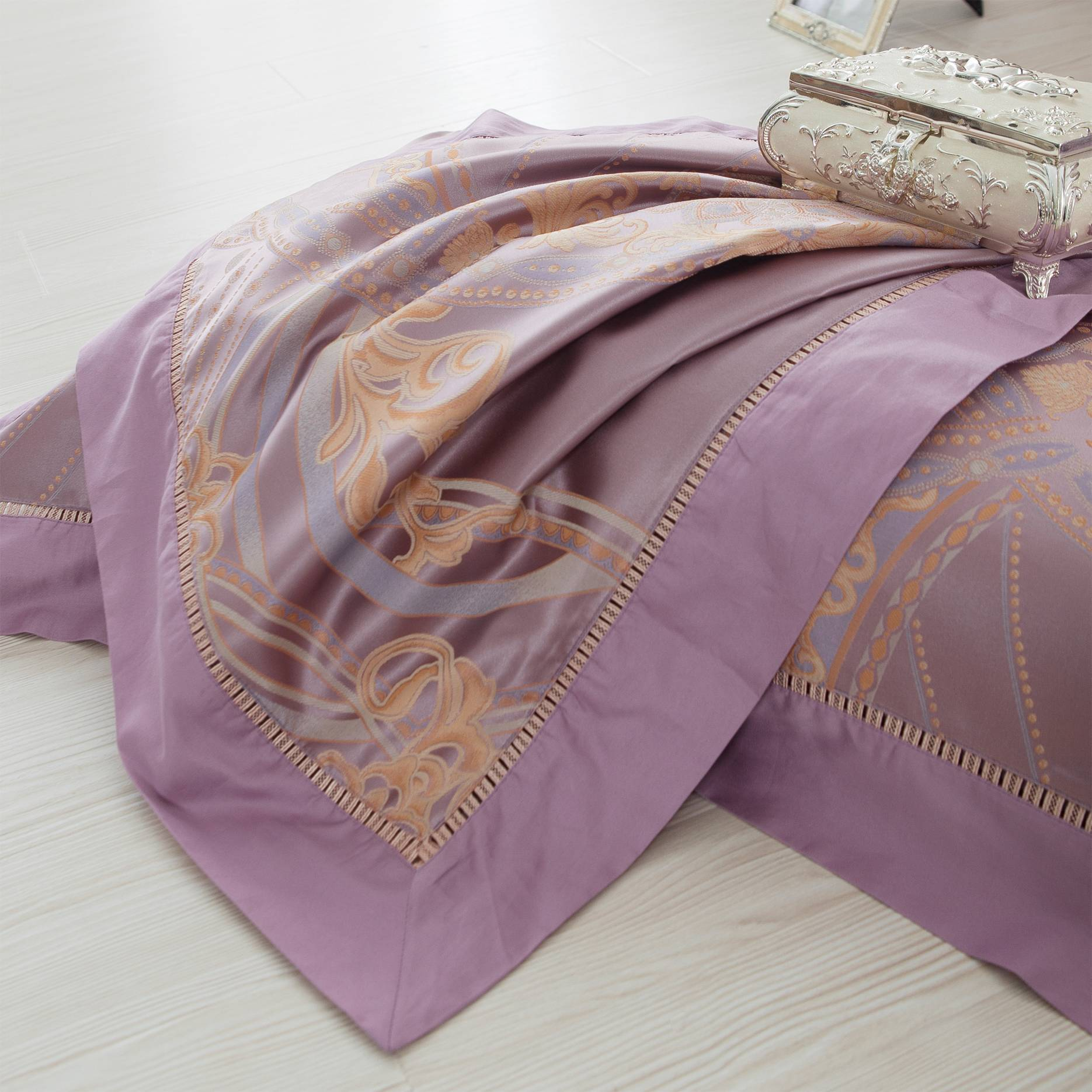 Jacquard Polyester China Bed Linen 6980