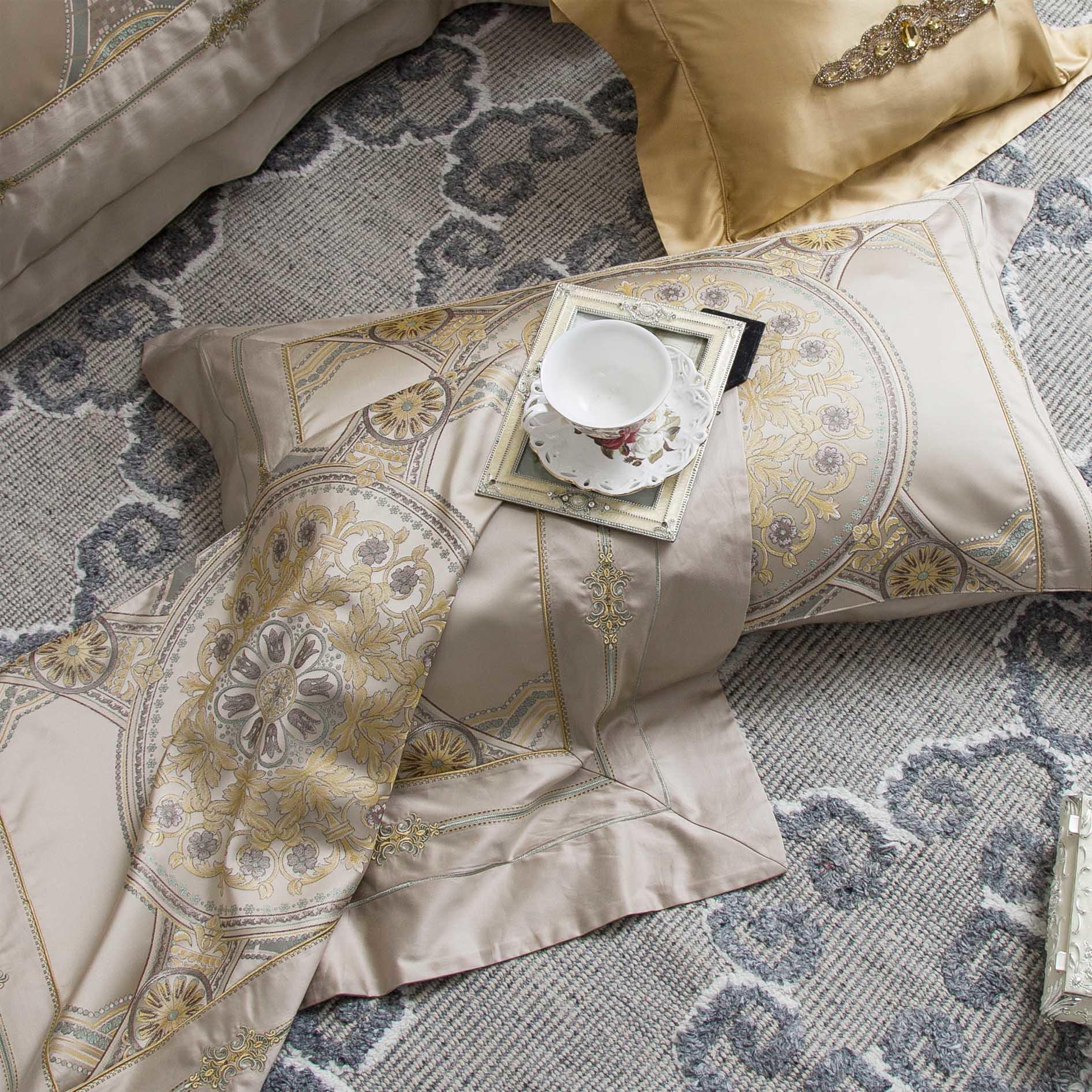 100% Polyester High-end Jacquard Sheet Set 6968
