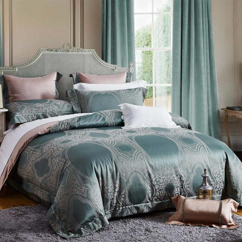 Blended Material Jacquard China Bedding Set High Quality 7066
