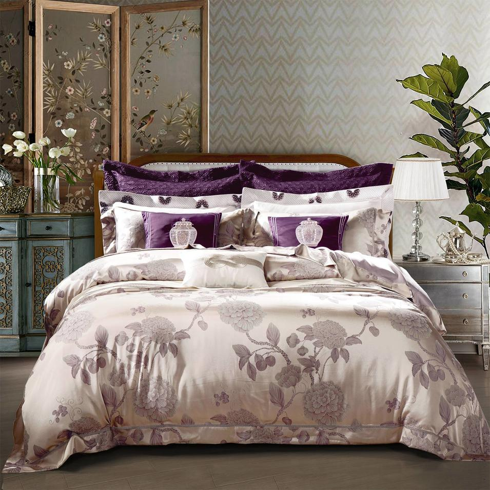 Jacquard Bedlinen Peony Patterns Made in China
