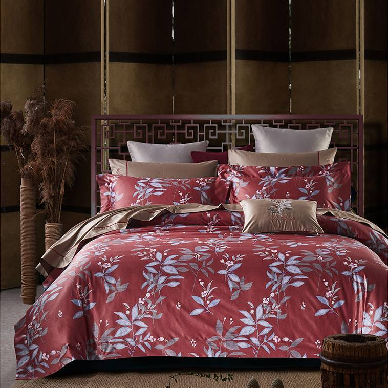 100% High-density Cotton Natural Printed Duvet Cover Set