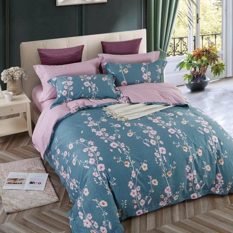 100% Cotton Lovely Floral Pattern Duvet Cover Set