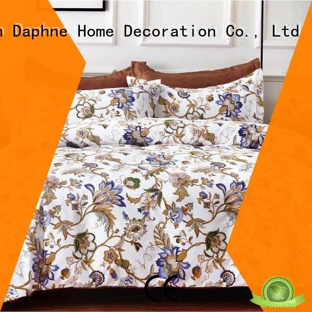 soft microfiber bed sheets print cover Daphne