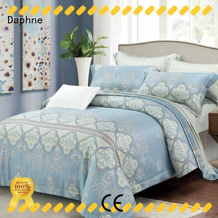 Daphne bright-color bamboo bed cover for wholesale